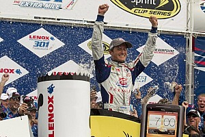 NASCAR Cup Race report Kahne beats Hamlin and the weather at Loudon