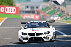Endurance Preview  Seven BMW Z4 GT3s line up at the Spa-Francorchamps 24 Hours.