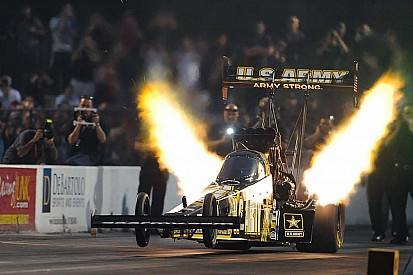 Schumacher made history in the most prestigious NHRA drag race at Indy