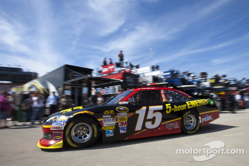 Bowyer refuels the Richmond race winning Toyota Camry in time for NHMS