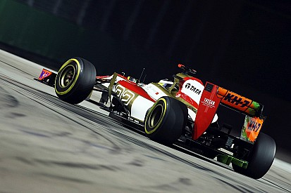 HRT tested an aero upgrade for Singapore GP