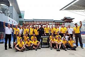 Formula 1 Qualifying report Renault engines secure 200th pole in Formula 1 at Korean Grand Prix