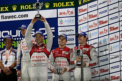 Audi trio are crowned world champions while Toyota wins in China
