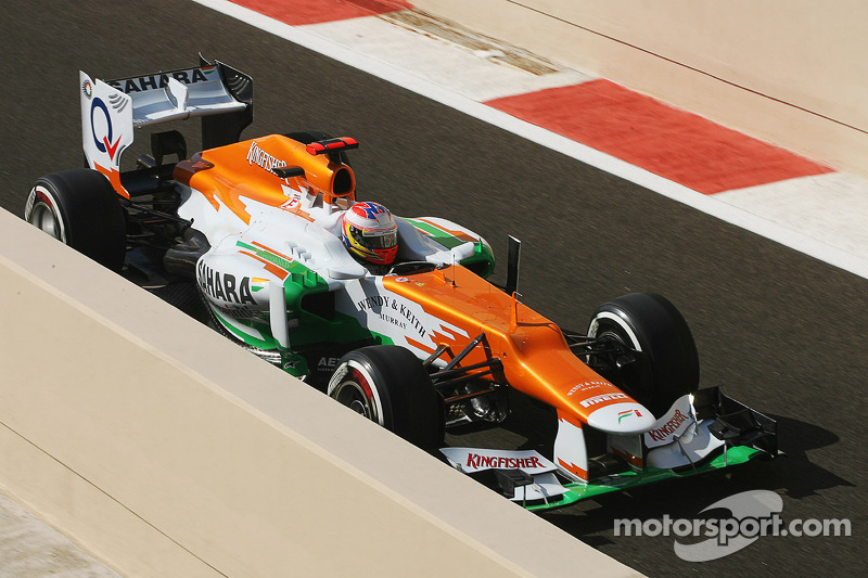 Midfield qualifying for Sahara Force India on Abu Dhabi GP