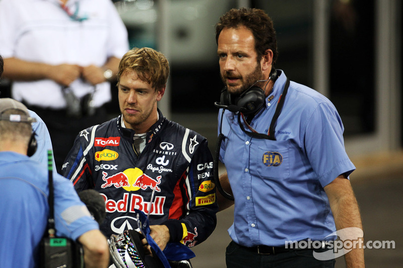 Vettel will start in his Red Bull Renault from the rear of the Abu Dhabi grid