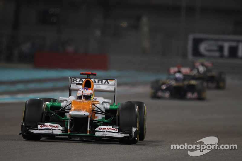 Sahara Force India's Di Resta scored two points in Abu Dhabi GP