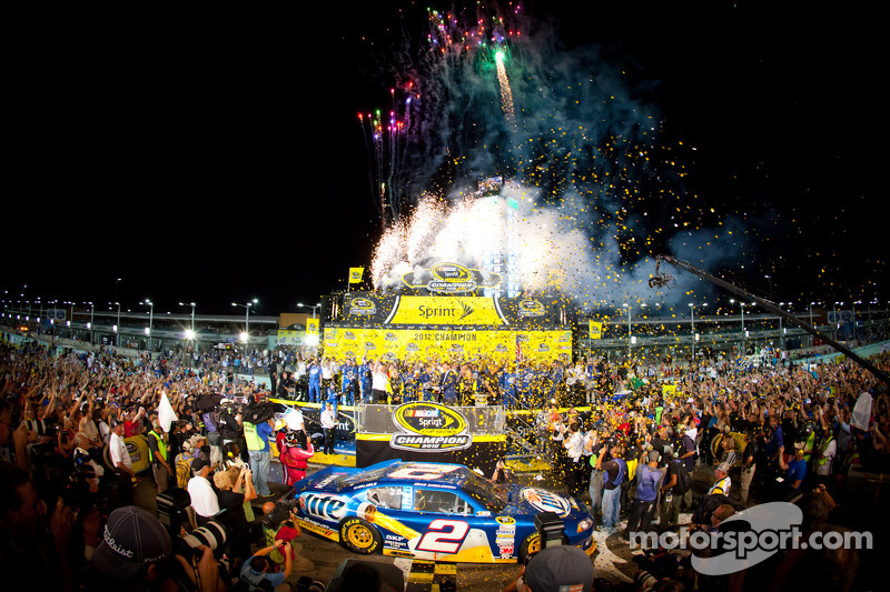 Keselowski and Penske celebrate their first Sprint Cup Championship