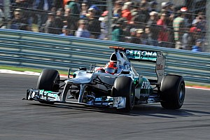 Formula 1 Commentary Schumacher had 'no choice' but to retire - Stuck