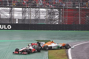 Formula 1 Race report Sahara Force India's Hulkenberg competed for the victory at Interlagos