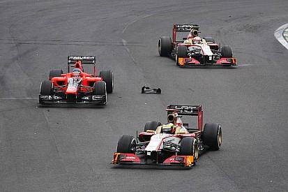 De la Rosa and Karthikeyan across the finish line on final race of the season in Brazil