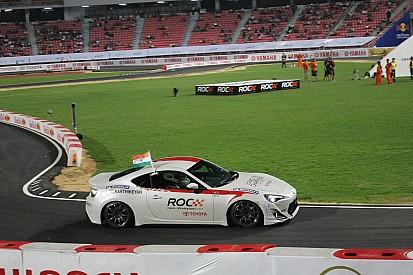 Chandhok and Karthikeyan celebrate ROC Asia victory Karthikeyan in Bangkok