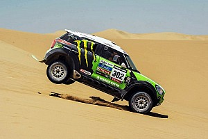 Dakar Stage report Peterhansel claims Car lead for Mini team on day 2 of Dakar contest