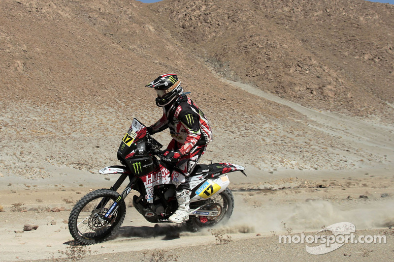 Botturi fourth in fifth stage on his Husqvarna TE449RR by Speedbrain