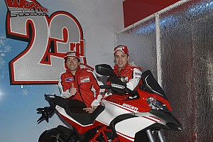 MotoGP Breaking news Day two of Wrooom dedicated to Ducati Team racers