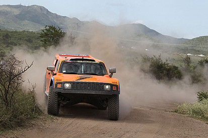 Gordon ended up fifth on stage 10 in his Hummer