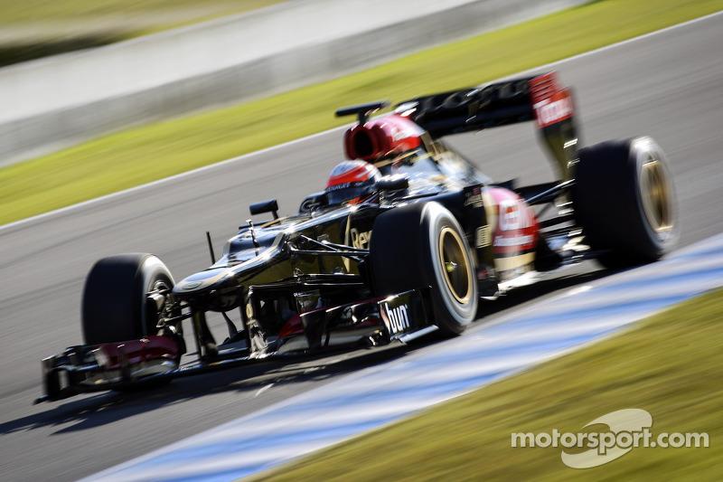 Lotus F1's Grosjean fastest in day 2's testing at Jerez