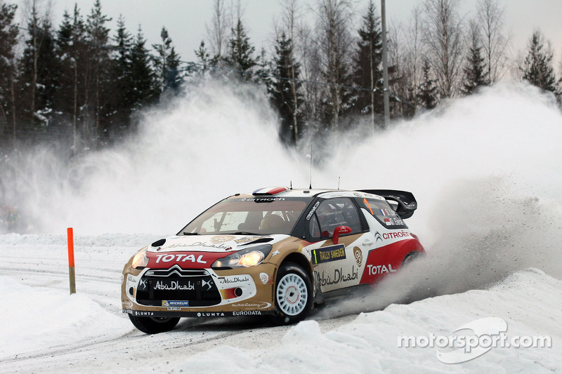 Citroen's Loeb holds second on leg one of Rally Sweden
