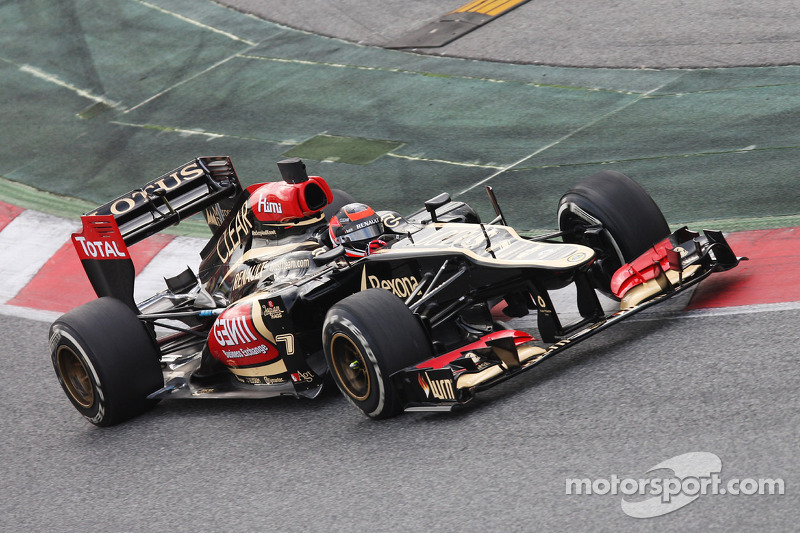 Raikkonen completed few laps on day one of testing at the Circuit de Catalunya