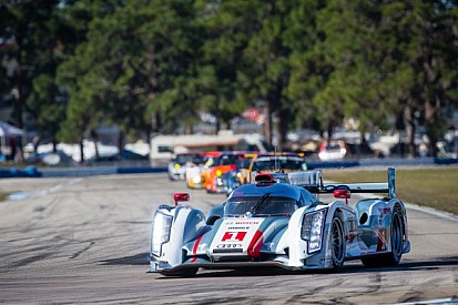 Up and down first practice for Audi Sport in Sebring