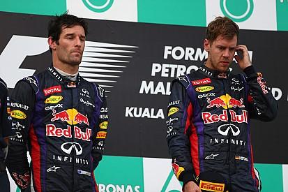 Vettel apologises for stealing Webber's win