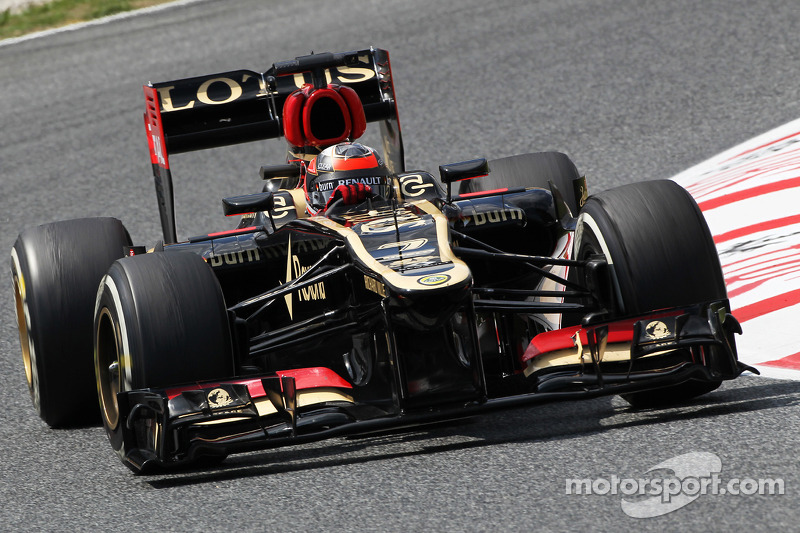 Happy day for Lotus in a regular Friday practice in Barcelona
