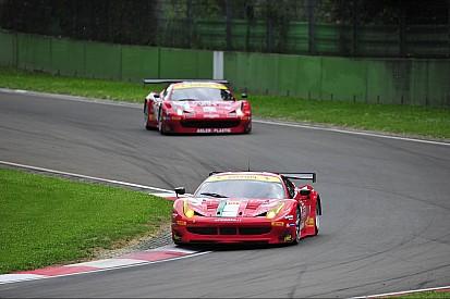 AF Corse Ferrari 458 Italia, two podiums at Imola
