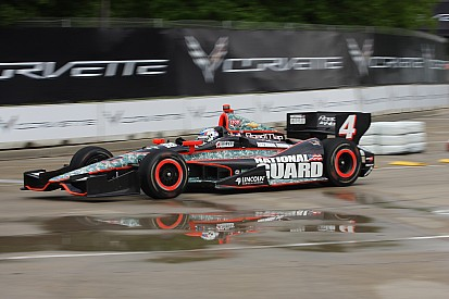 Panther's Briscoe qualifies 22nd during wet qualification session for Detroit Race One