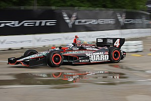IndyCar Qualifying report Panther's Briscoe qualifies 22nd during wet qualification session for Detroit Race One