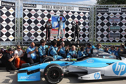 Pagenaud scores first series win at Detroit's Belle Isle Park