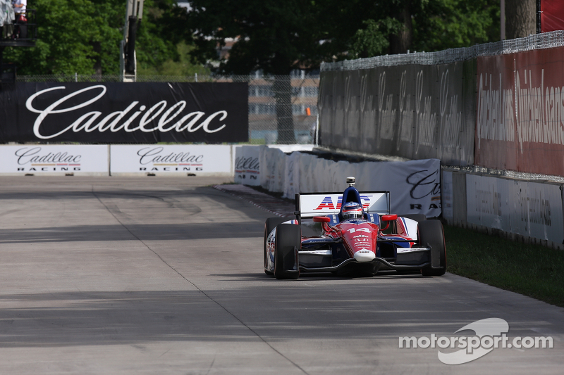 Foyt's Sato not finished Race 2 in Detroit