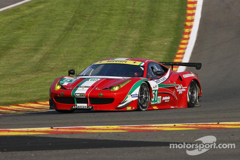 Five Ferrari 458 Italia GT2 for the only Italian team at Le Mans