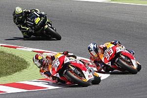 MotoGP Race report Pedrosa and Marquez escape scares in Gran Premi Aperol de Catalunya