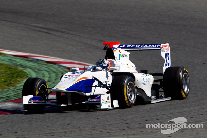 Trident Racing's Venturini scored his maiden win at Silverstone