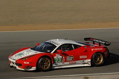 Sweedler and Bell look forward Lime Rock Park in their Ferrari