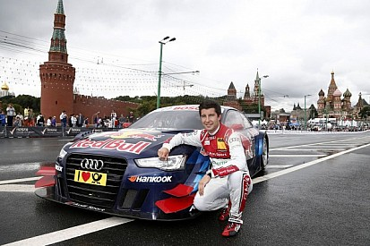 Audi RS 5 DTM before race debut in Moscow