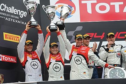 Audi R8 LMS ultra on podium at Spa