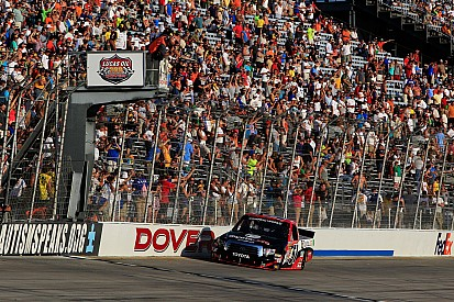 Kyle Busch ready to open the foor to a Truck Series victory at Michigan