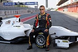 GP3 Breaking news Kimi Raikkonen at the wheel of the GP3/13 car