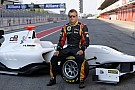 Kimi Raikkonen at the wheel of the GP3/13 car