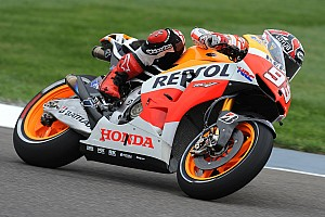 MotoGP Practice report Bridgestone: Marquez marches to the top of the timesheets in Friday practice at Indy