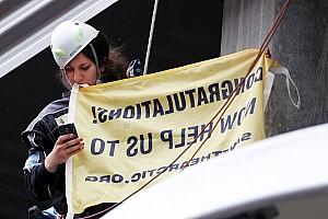 Formula 1 Breaking news Formula One organisers tried to hurt me - Greenpeace 'Julia'