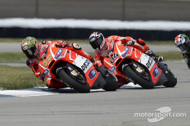 Dovizioso, Hayden seventh and tenth in Silverstone free practice