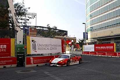 Sweedler and Bell finish seventh in the AJR Ferrari at Baltimore