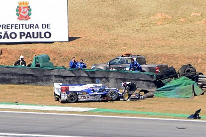 Toyota, Lotus crash out early and Vilander's Ferrari goes up in flames