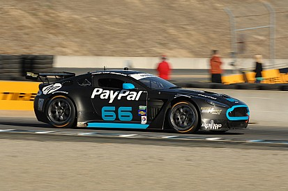 TRG-AMR North America Aston Martin Vantage GT4 on pole at Laguna Seca