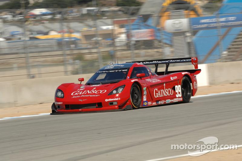 Perspective from ground level on Daytona Prototypes at Laguna Seca