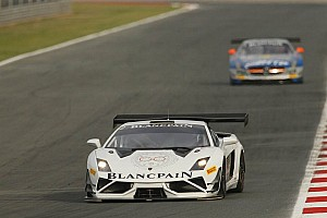 Blancpain Sprint Qualifying report Lamborghini Blancpain Reiter grab dramatic pole at Circuito de Navarra