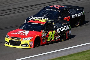 NASCAR Cup Commentary Kurt Busch and Jeff Gordon play rough at Kansas