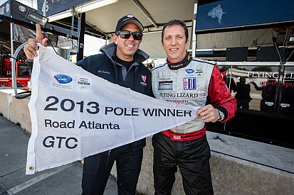 Flying Lizard on pole at Petit Le Mans