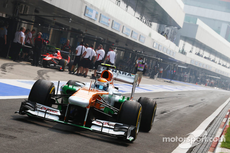 Both Force India drivers got their chance in Q2 of qualifying at India